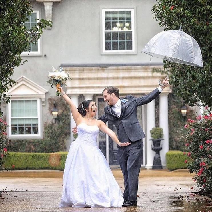 The way we see it Rain on a wedding day is good luck!  The